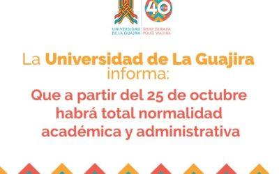 Usuario Uniguajira reiniciando actividades